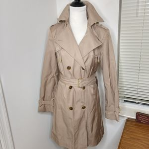 Cole Haan Tan Double Breasted Trench Coat